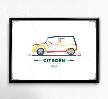 Citroen Mehari poster art print