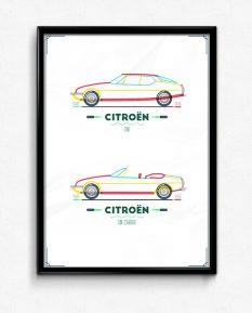Citroen-SM-poster-framed