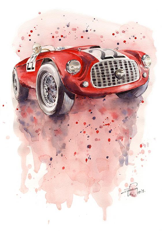 Ferrari 166 art