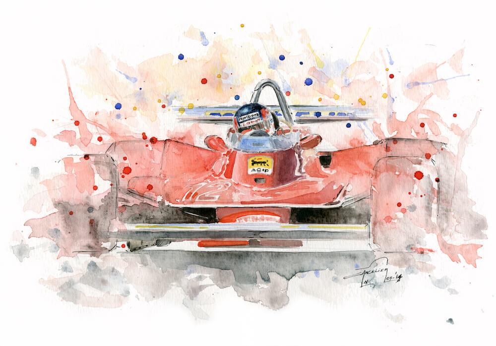 Ferrari 312 T4 art