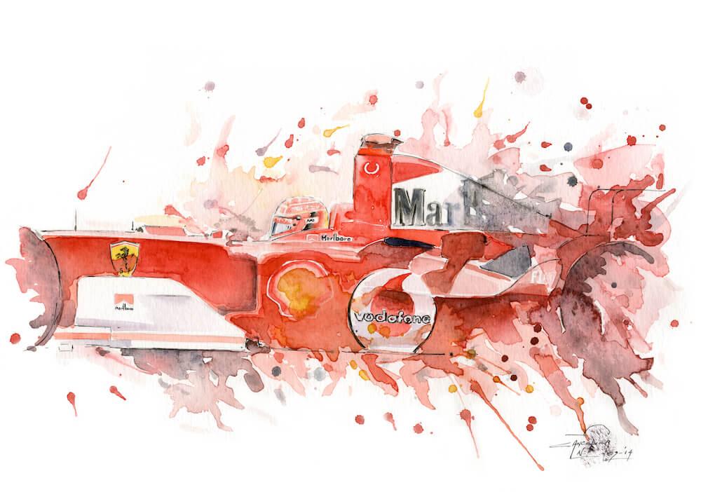Michael Schumacher art