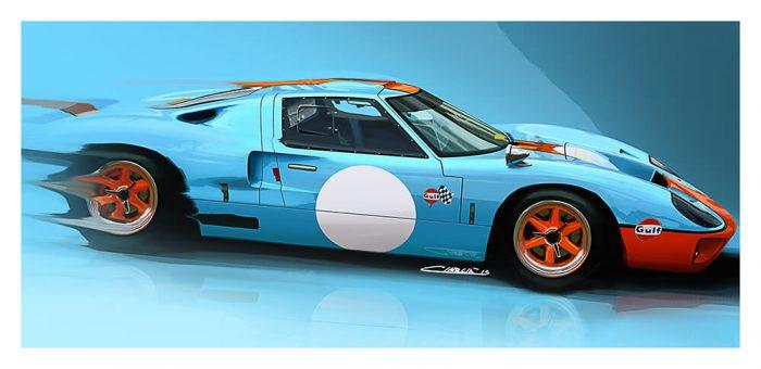 Ford GT40 Gulf art