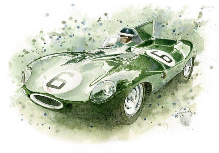 Jaguar D-Type art