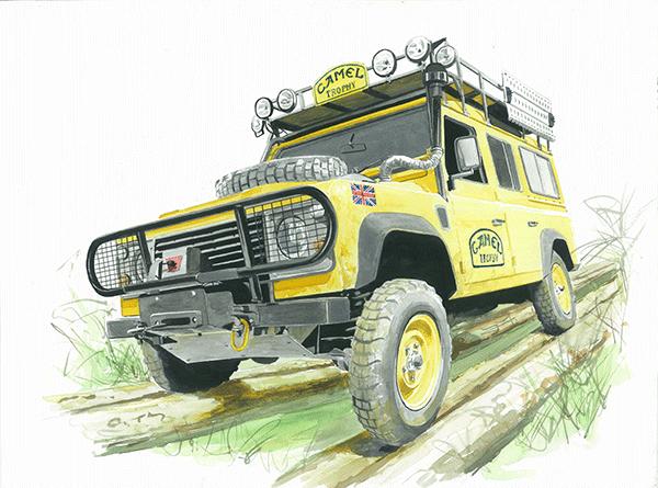 Land Rover Defender Camel Trophy Art Print Simply Petrol