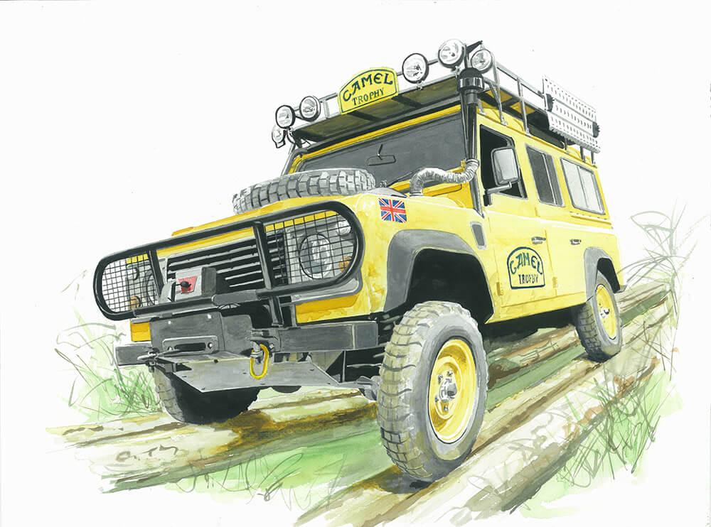 Land Rover Defender art
