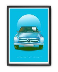 Mercedes-Benz-SL-Pagoda-poster-framed-rev