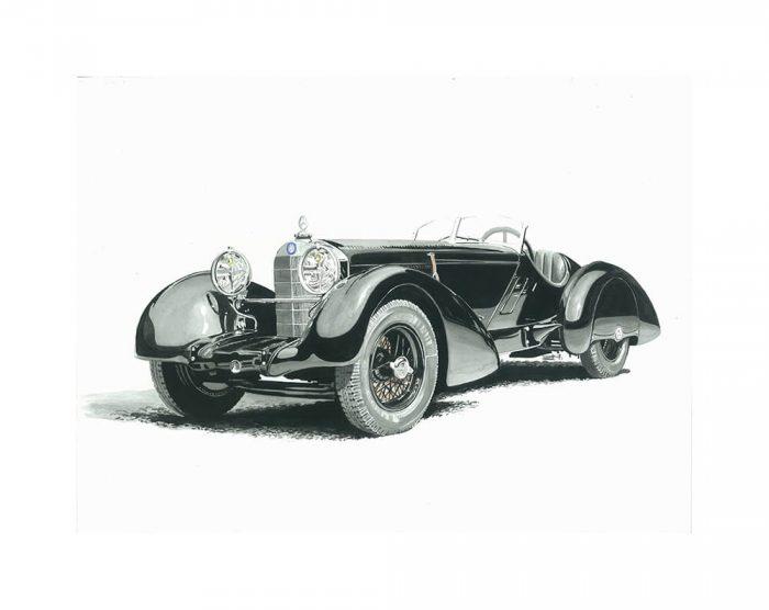 Mercedes SSK art print