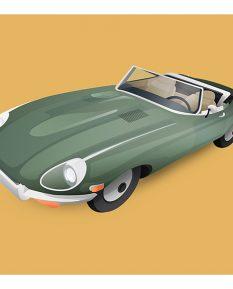 Jaguar_E-Type_W70-art-work-design-illustration-print