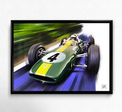 Lotus-33-Climax-Jim-Clark-poster