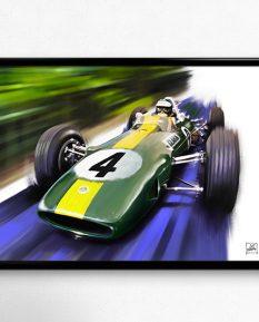 Lotus-33-Climax-Jim-Clark-art-poster-print-framed