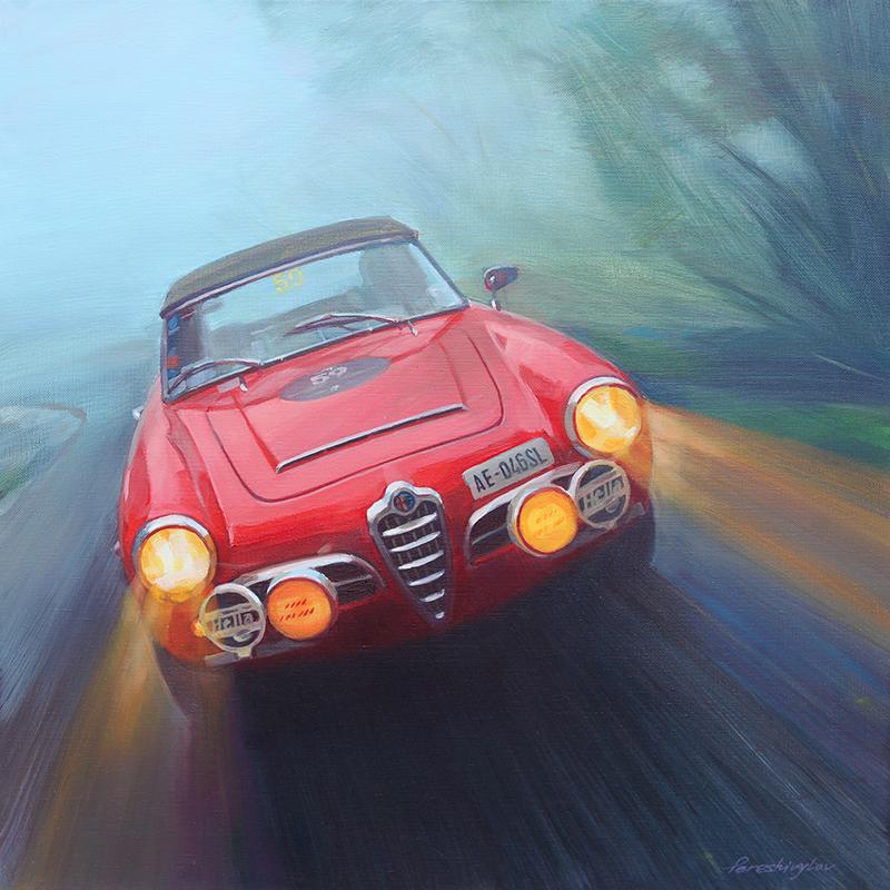 Alfa Romeo Giulietta Spider Simply Petrol Fine Car Art Gallery - Alfa romeo posters
