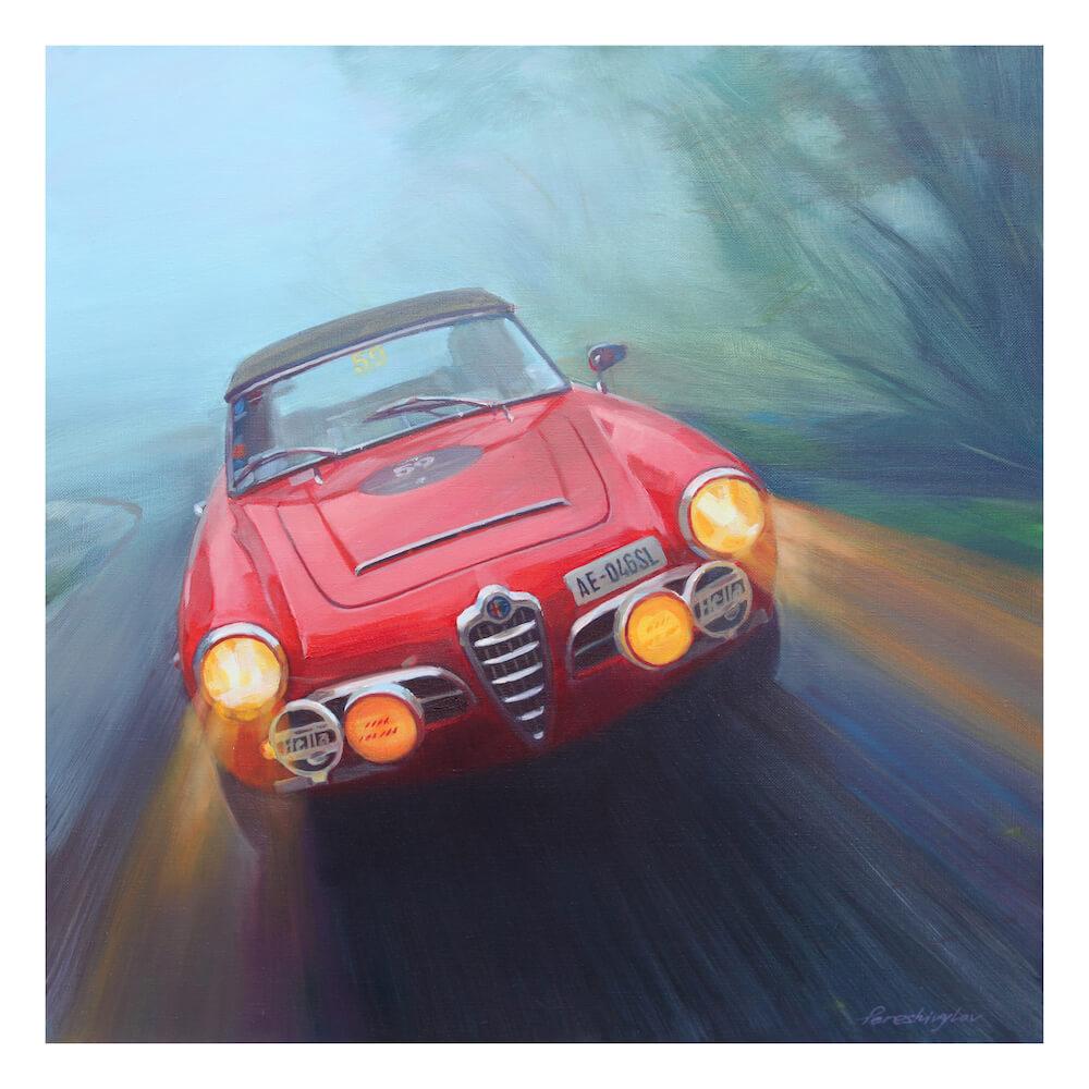 Alfa Romeo Giulietta car art