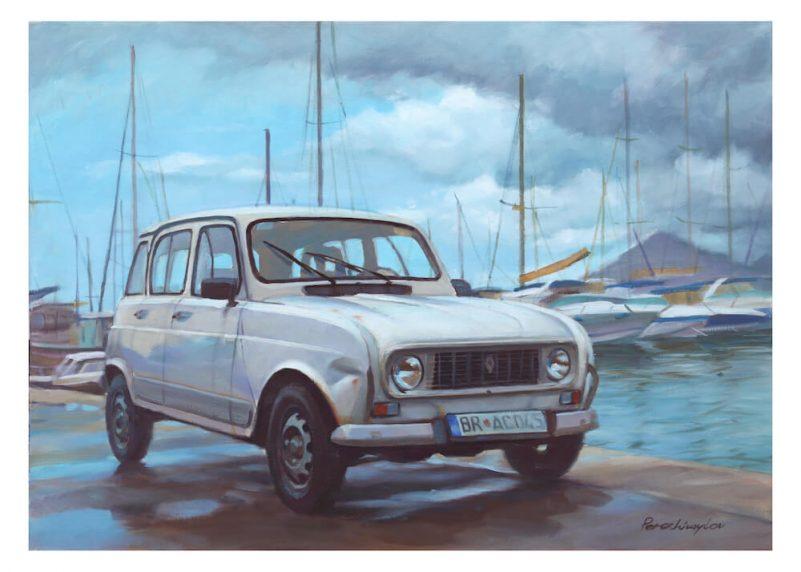 Renault R4 wall art