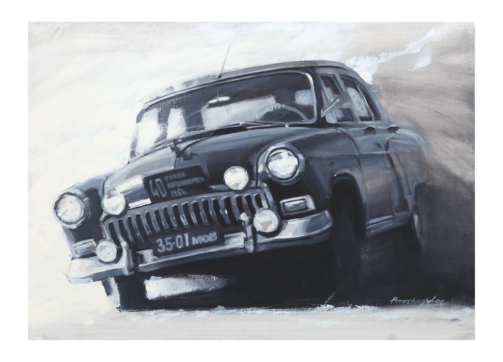 GAZ 21 Volga wall art
