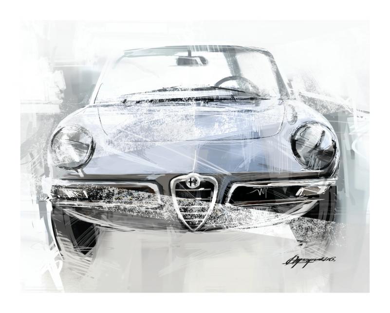 Car art Alfa Romeo 1750 Duetto Spider