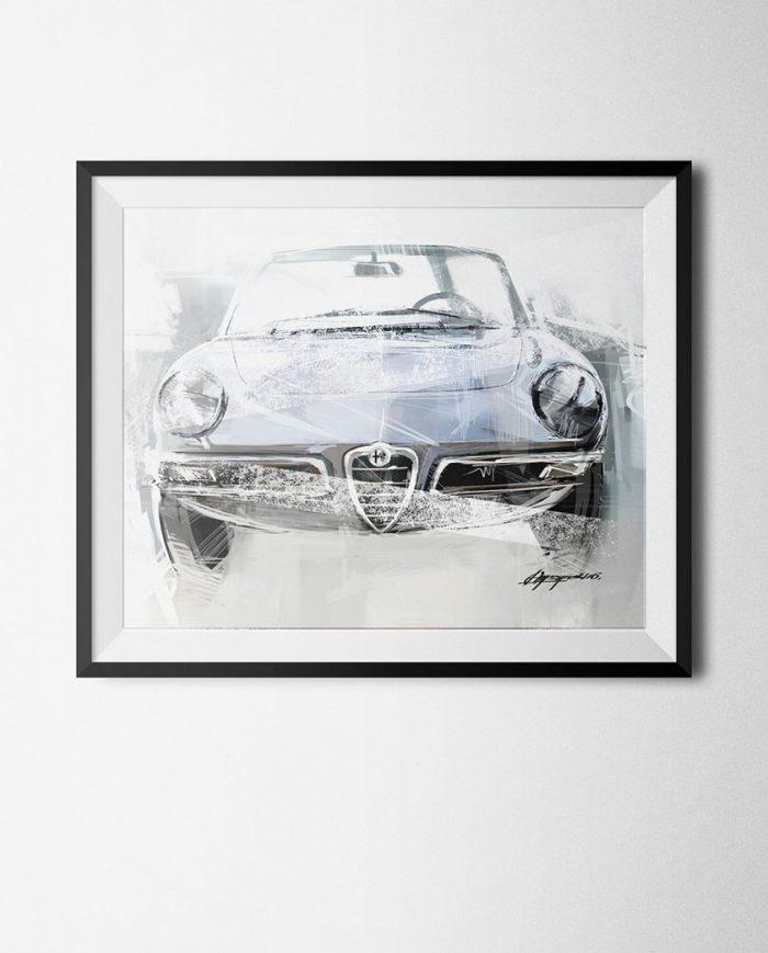 Alfa Romeo 1750 poster