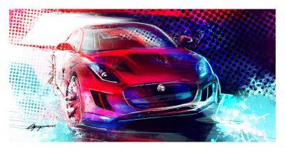 Jaguar F Type art