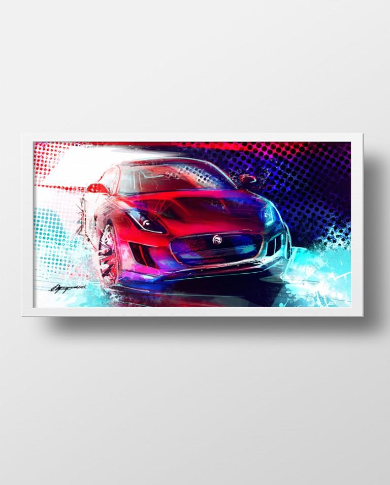 Jaguar F-Type poster art print