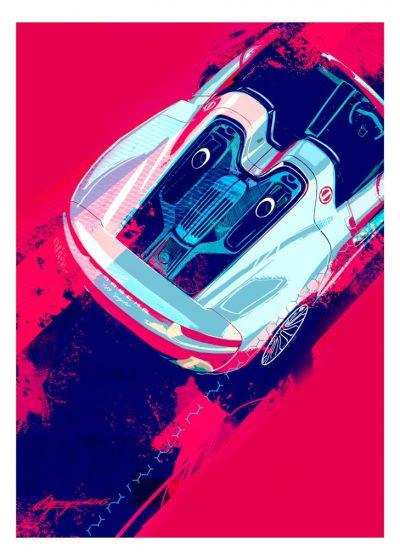 porsche-918-poster-art