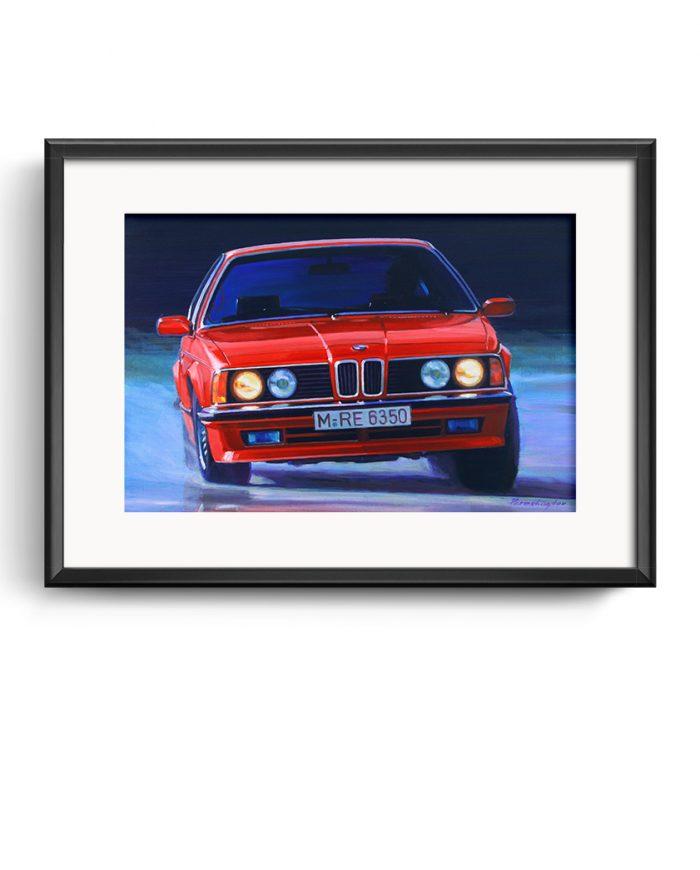 BMW 635 CSi poster