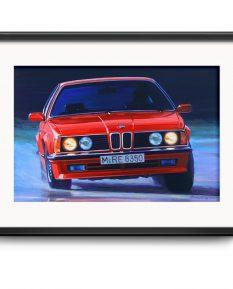 BMW-635-CSi-poster-car-art-print-framed