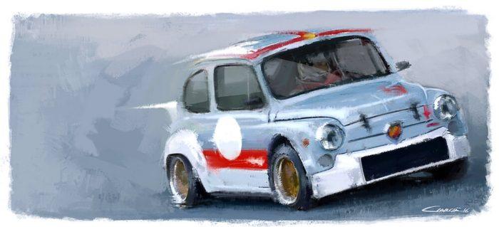 Abarth 1000 TCR car art