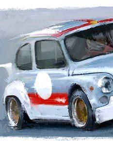 FIAT-Abarth-1000-tcr-car-art