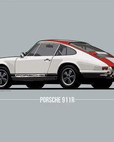 porsche-911r-car-art-poster-print