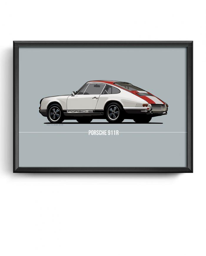 Porsche 911 r poster print