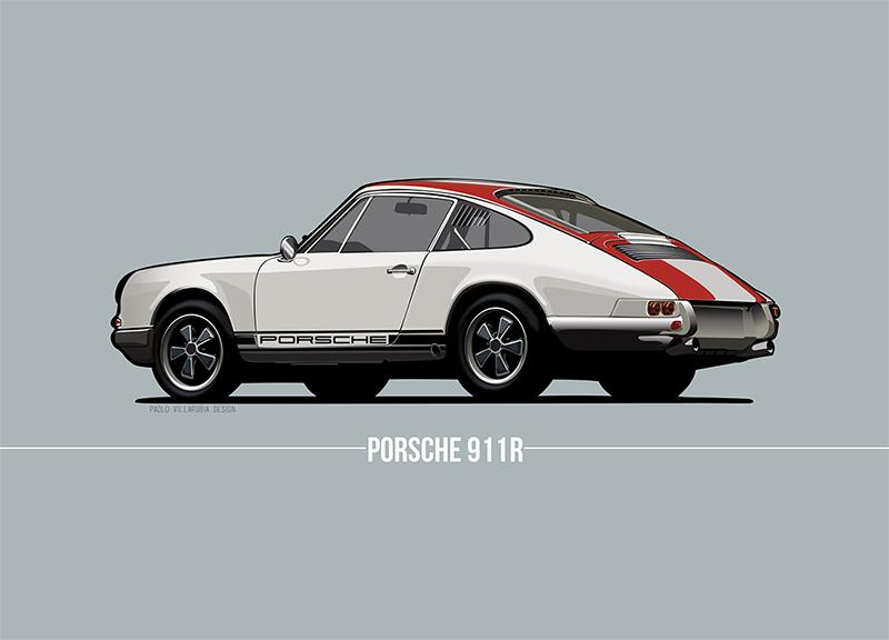 Porsche 911 R Art Print Simply Petrol