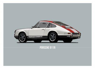 Porsche 911 poster art