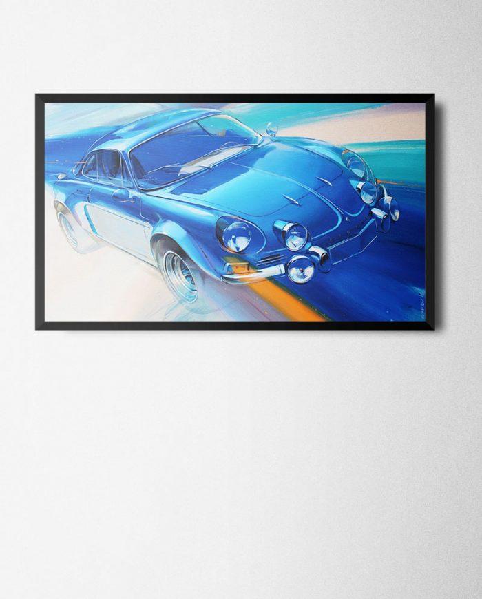 Alpine A110 poster print framed