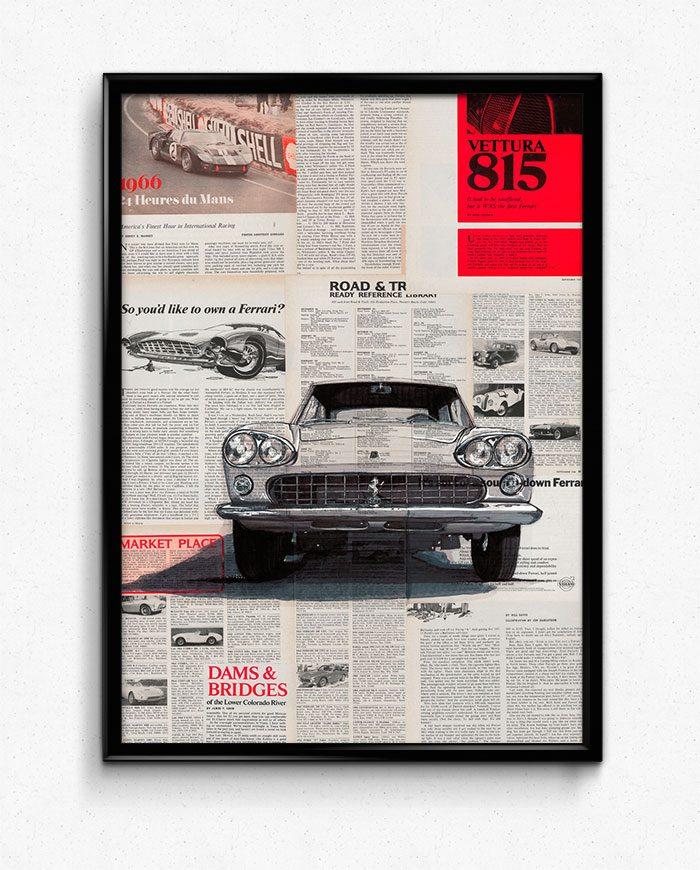Ferrari 300 GT 2+2 Series I poster art print