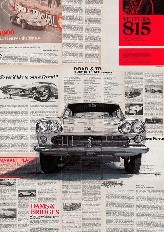 Poster print Ferrari 330 GT 2+2