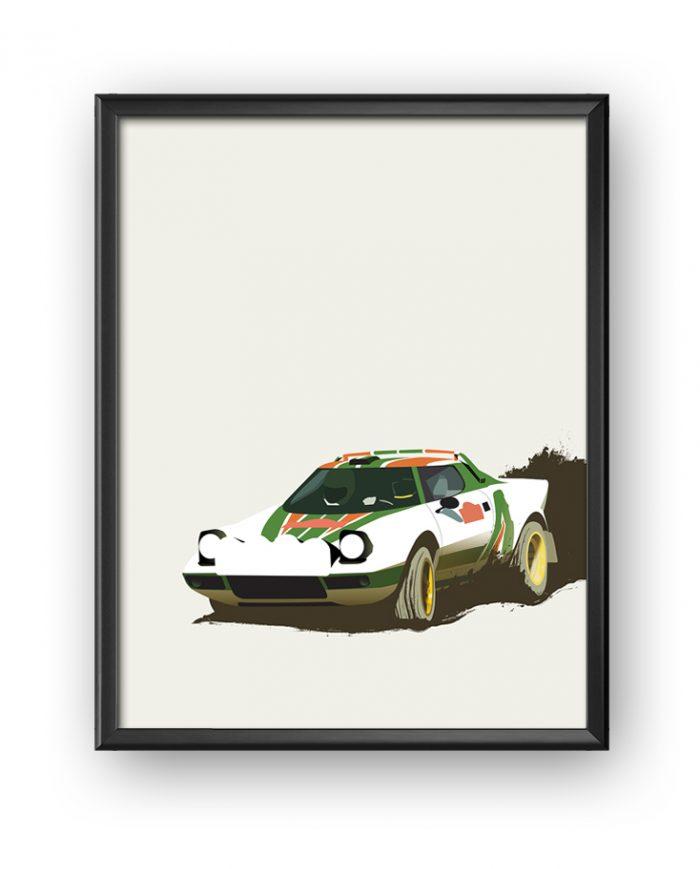 Lancia Stratos Poster Framed