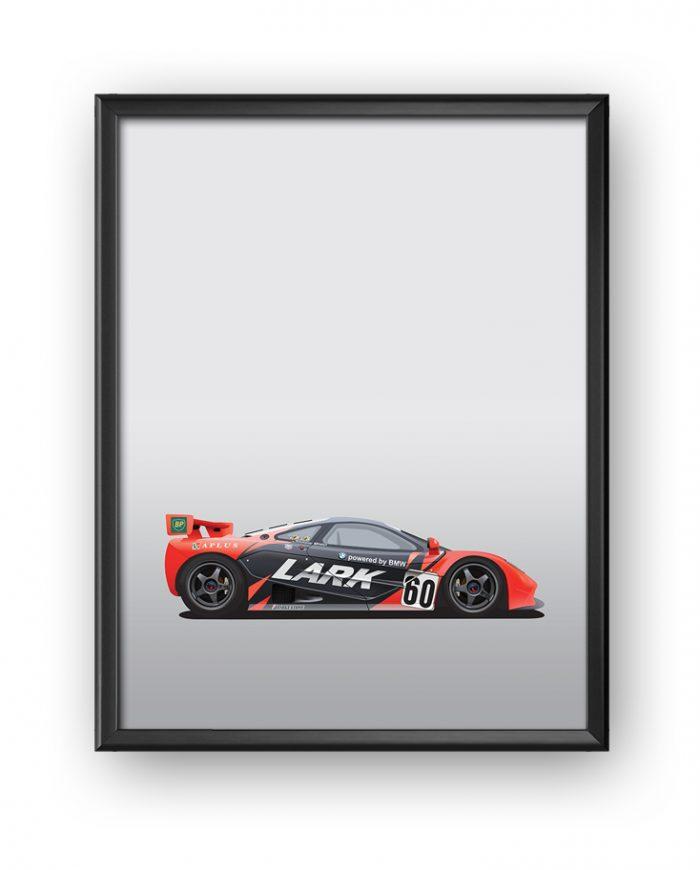 Poster McLaren F1 GTR Team Lark framed