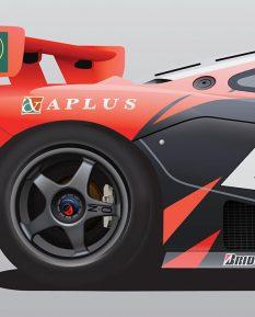 McLaren_F1_GTR_Team_Lark_poster_print_detail
