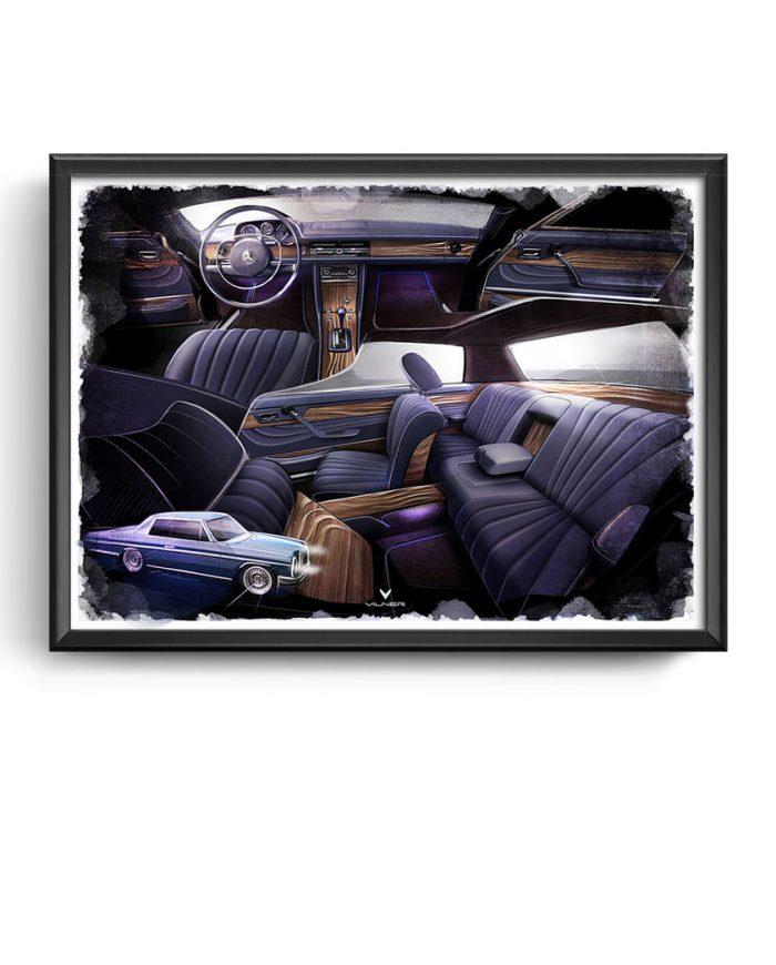 Mercedes W114 Coupe art