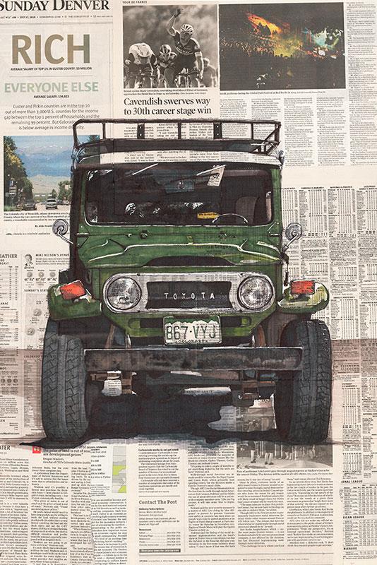 Poster art Toyota FJ40