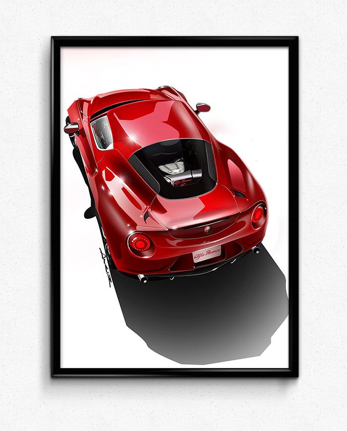Alfa Romeo C Poster Print Simply Petrol - Alfa romeo posters