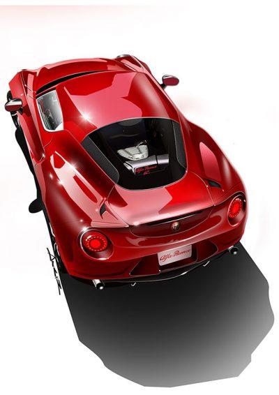 Alfa Romeo 4C poster art