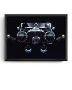 Mercedes-Benz-500K-art-framed