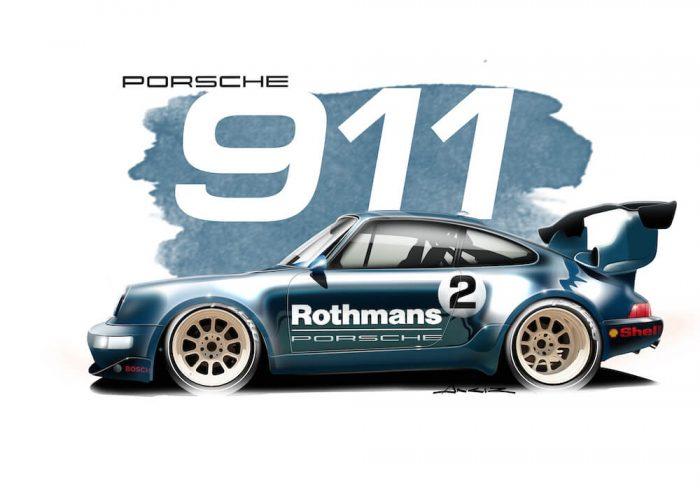 Porsche 911 GT2 art
