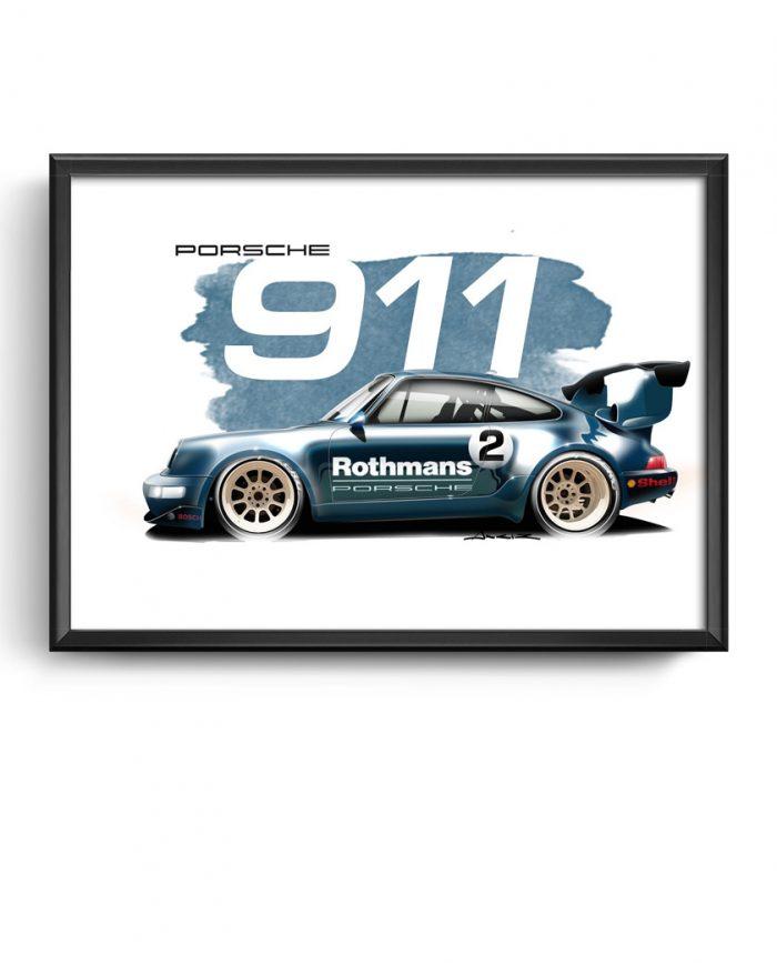 RWB Porsche 911 art