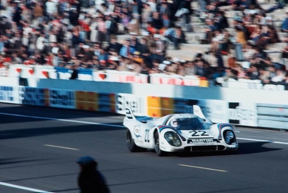 1971 Le Mans winner Martini Porsche 917 driven by Helmut Marko and Gijs van Lennep