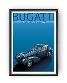 Bugatti-Type-57-Atlantic-art-framed