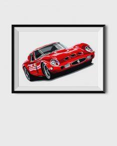 Ferrari-250-GTO-poster-art-framed
