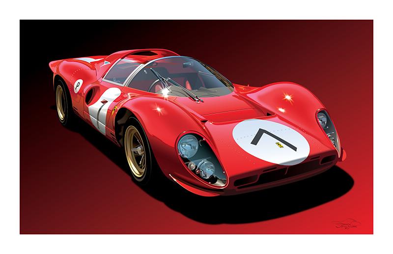 Ferrari 330 P4 art