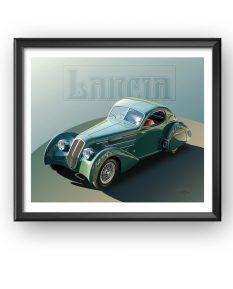 Lancia-Astura-Aerodinamica-art-framed