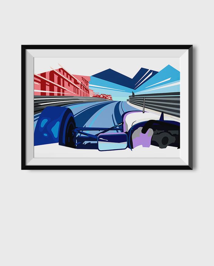 Monaco F1 art